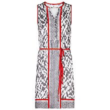 Buy Sandwich Leopard Bright Trim Dress, Stone Grey Online at johnlewis.com