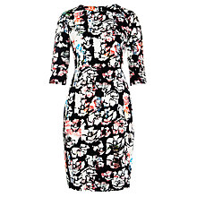 Buy Tara Jarmon Long Sleeved Shift Dress, Black Floral Online at johnlewis.com
