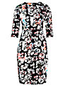 Tara Jarmon Long Sleeved Shift Dress, Black Floral