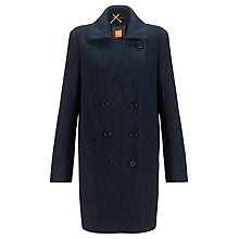 Buy BOSS Orange Ofrieda Coat, Navy Online at johnlewis.com