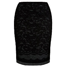 Buy Tara Jarmon Lace Skirt, Noir Online at johnlewis.com