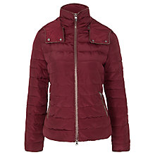 Buy Armani Jeans Hooded Jacket, Bordeaux Online at johnlewis.com