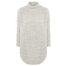 Buy BOSS Orange Rib Knit Jumper, Grey Online at johnlewis.com