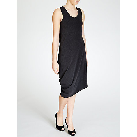 Buy Crea Concept Knitted Asymmetrical Hem Dress, Grey Online at johnlewis.com