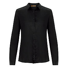 Buy BOSS Orange Emoska Knit Back Insert Blouse, Black Online at johnlewis.com