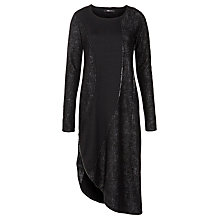Buy Crea Concept Jersey Wool & Dress, Black Online at johnlewis.com