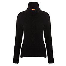 Buy BOSS Orange Imogen Rollneck Jumper, Black Online at johnlewis.com