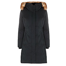 Buy BOSS Orange Long Padded Coat, Black Online at johnlewis.com