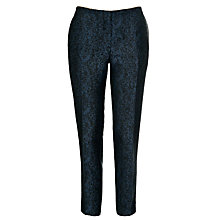Buy Tara Jarmon Front Pressed Trousers, Bleu Nuit Online at johnlewis.com