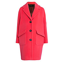Buy Tara Jarmon Patch Pocket Cocoon Coat, Rose Vif Online at johnlewis.com