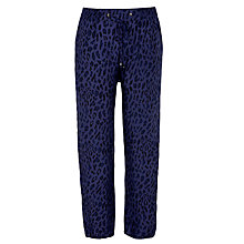 Buy BOSS Orange Simiss Leopard Trousers, Navy Online at johnlewis.com