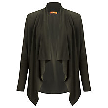 Buy BOSS Orange Silk Back Cardigan, Charcoal Online at johnlewis.com