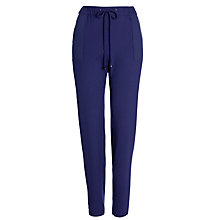 Buy BOSS Orange Sadina Drawstring Trousers, Navy Online at johnlewis.com