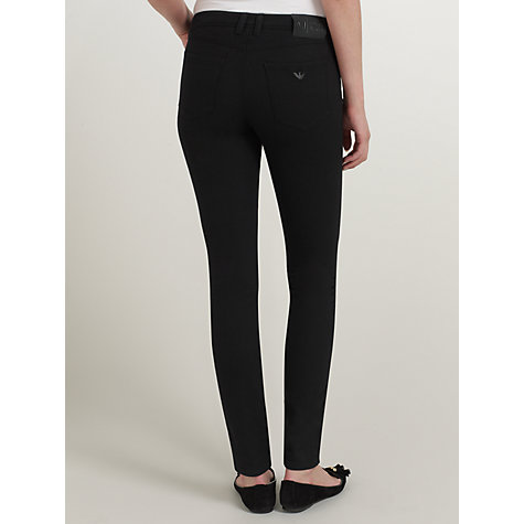 Buy Armani Jeans Power-stretch Skinny Jeans, Black Online at johnlewis.com