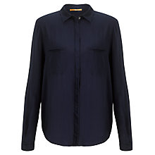 Buy BOSS Orange Emilitye Blouse, Navy Online at johnlewis.com