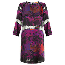 Buy BOSS Orange Edenim Floral Print Blouse, Purple/Multi Online at johnlewis.com