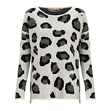Buy BOSS Orange Wafiya Leopard Jumper, Natural Online at johnlewis.com
