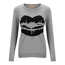 Buy BOSS Orange Widelina Lip Print Jumper, Grey Online at johnlewis.com