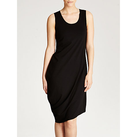 Buy Crea Concept Draped Asymmetric Dress, Black Online at johnlewis.com