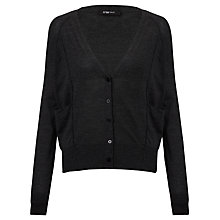 Buy Crea Concept Two-Pocket V-Neck Cardi, Grey Online at johnlewis.com
