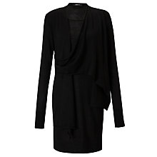 Buy Crea Concept Wool Cowl Neck Dress, Black Online at johnlewis.com