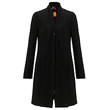 Buy BOSS Orange Olcarana Wool Cardi Coat, Black Online at johnlewis.com