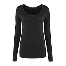 Buy Crea Concept Long Sleeved Knitted Top, Grey Online at johnlewis.com