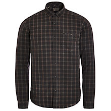 Buy Selected Homme Washed Check Long Sleeve Shirt, Caviar Online at johnlewis.com