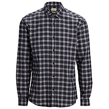 Buy Selected Homme Greff Long Sleeved Slim Fit Checked Flannel Shirt, Grey Melange Online at johnlewis.com