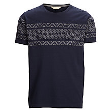 Buy Selected Homme Jacquard T-Shirt, Navy Online at johnlewis.com
