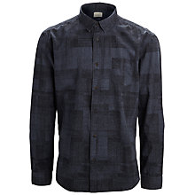 Buy Selected Homme One Tone Printed Long Sleeved Shirt, Navy Online at johnlewis.com