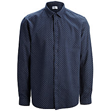 Buy Selected Homme One Chris Joe Dot Shirt, Navy Online at johnlewis.com