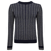 Buy Gant Norway Fair Isle Lambswool Jumper, Evening Blue Online at johnlewis.com