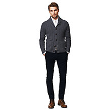 Buy Gant Lambswool Cable Knit Cardigan Online at johnlewis.com