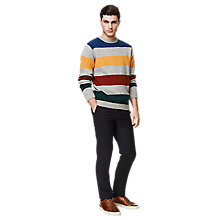 Buy Gant Barstripe Alpaca Blend Crew Neck Jumper, Multi Online at johnlewis.com