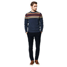 Buy Gant Lambswool Fair Isle Jumper, Multi Blue Online at johnlewis.com