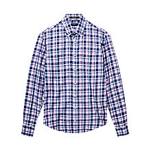 Buy Gant Cotton Twill Over Check Shirt Online at johnlewis.com