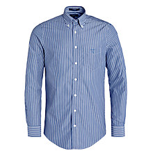 Buy Gant Breton Poplin Stripe Shirt, Deep Cobalt/Classic Online at johnlewis.com