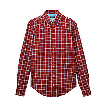 Buy Gant Solid Overcheck Cotton Shirt Online at johnlewis.com