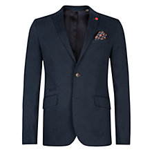 Buy Ted Baker Statrek Cotton Blazer, Navy Online at johnlewis.com