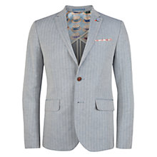 Buy Ted Baker Breek Herringbone Linen Blend Blazer, Blue Online at johnlewis.com