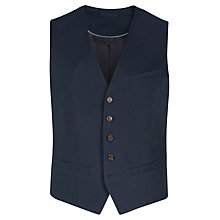 Buy Ted Baker Stawai Cotton Waistcoat, Navy Online at johnlewis.com