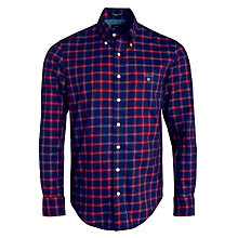 Buy Gant Wilmington Twill Checked Shirt, Red/Blue Online at johnlewis.com