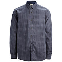 Buy Selected Homme Slim Fit Long Sleeved Flannel Shirt, Grey Online at johnlewis.com