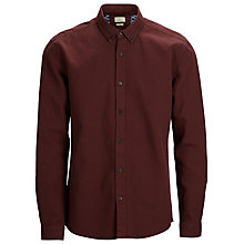 Buy Selected Homme One Secret Long Sleeved Cotton Shirt, Rum Raisin Online at johnlewis.com