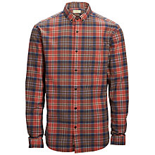 Buy Selected Homme Greve Flannel Check Shirt, Rum Raisin Online at johnlewis.com