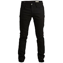 Buy Selected Homme One Marco Straight Jeans, Black/Unwashed Online at johnlewis.com