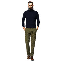 Buy Gant Fine Merino Wool Roll Neck Jumper, Navy Online at johnlewis.com