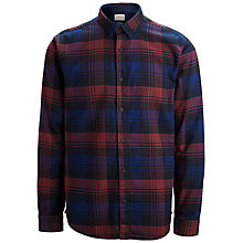 Buy Selected Home Large Check Flannel Shirt, Caviar Online at johnlewis.com
