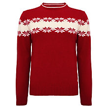 Buy Gant Lambswool Snowflake Crew Neck Jumper Online at johnlewis.com